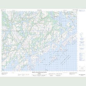 Canadian Topo Map - Saint-Augustin-Saguenay - Map 012O02