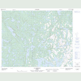 Canadian Topo Map - Lac Robertson - Map 012O03