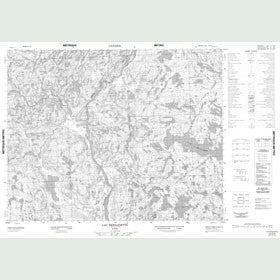 Canadian Topo Map - Lac Bernadette - Map 012O04