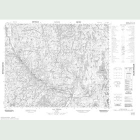 Canadian Topo Map - Lac Verton - Map 012O05