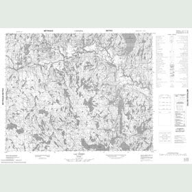 Canadian Topo Map - Lac Ferru - Map 012O06