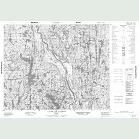 Canadian Topo Map - Lac de l'Île au Castor - Map 012O10