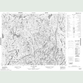 Canadian Topo Map - Lac de Vitré - Map 012O12
