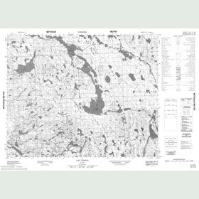 Canadian Topo Map - Lac Chenil - Map 012O13