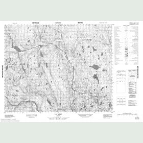 Canadian Topo Map - Lac Méry - Map 012O15