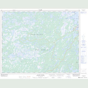 Canadian Topo Map - Salmon River - Map 012P01