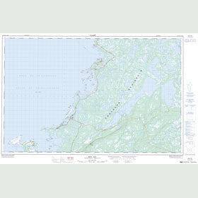 Canadian Topo Map - Brig Bay - Map 012P02