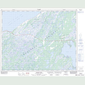 Canadian Topo Map - Eddies Cove - Map 012P08