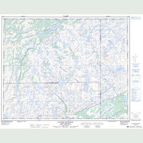 Canadian Topo Map - Collines de Brador - Map 012P11