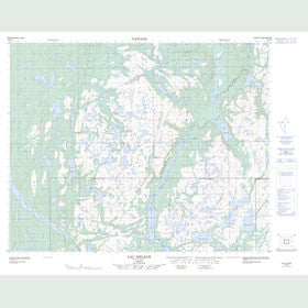 Canadian Topo Map - Lac Delage - Map 012P12