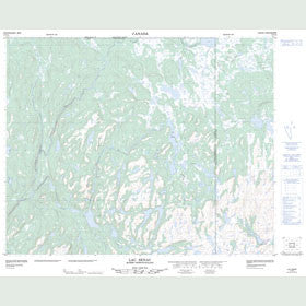 Canadian Topo Map - Lac Senac - Map 012P14