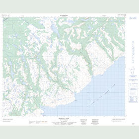 Canadian Topo Map - Barge Bay - Map 012P16