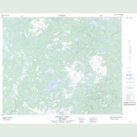 Canadian Topo Map - Chateau Pond - Map 013A01