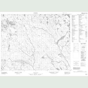 Canadian Topo Map - Map 013A02