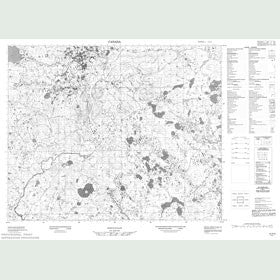 Canadian Topo Map - Map 013A05