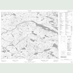 Canadian Topo Map - St. Lewis Inlet - Map 013A08
