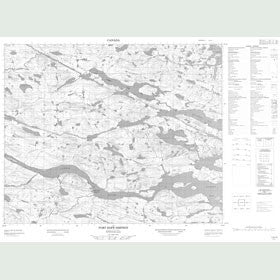 Canadian Topo Map - Port Hope Simpson - Map 013A09