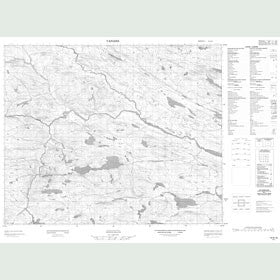 Canadian Topo Map - Map 013A10
