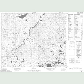Canadian Topo Map - Map 013A13