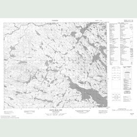 Canadian Topo Map - White Bear Arm - Map 013A16