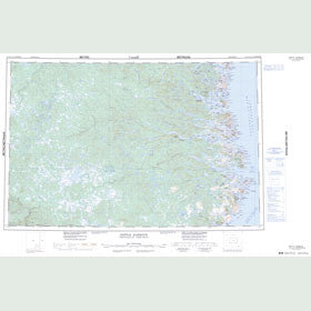 Canadian Topo Map - Battle Harbour - Map 013A