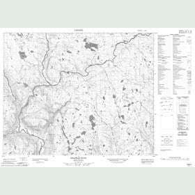 Canadian Topo Map - Halfway Pond - Map 013B03