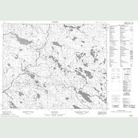 Canadian Topo Map - Map 013B05