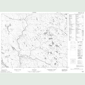 Canadian Topo Map - Map 013B06