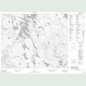 Canadian Topo Map - Map 013B08