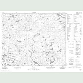 Canadian Topo Map - Map 013B12