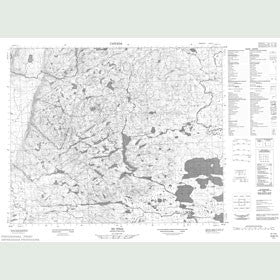 Canadian Topo Map - Map 013B13