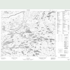 Canadian Topo Map - Map 013B16