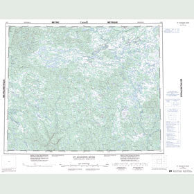 Canadian Topo Map - St. Augustin River - Map 013B
