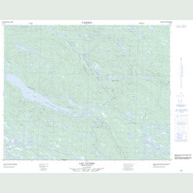 Canadian Topo Map - Lac Guines - Map 013C03