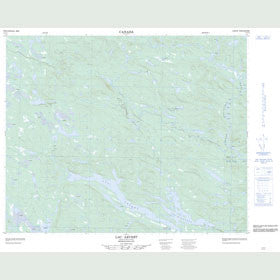 Canadian Topo Map - Lac Arvert - Map 013C05