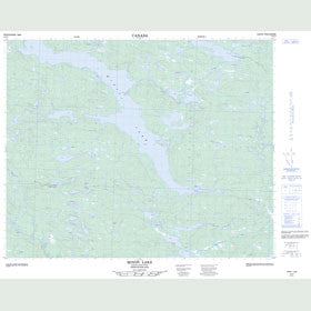 Canadian Topo Map - Minipi Lake - Map 013C07