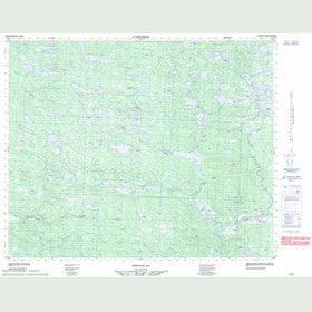 Canadian Topo Map - Map 013C08