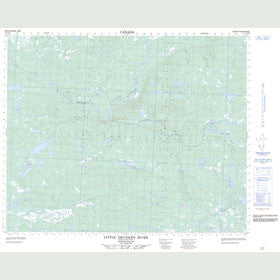 Canadian Topo Map - Little Drunken River - Map 013C09
