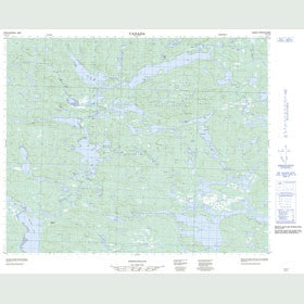 Canadian Topo Map - Anne Marie Lake - Map 013C10