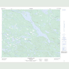 Canadian Topo Map - Dominion Lake - Map 013C12