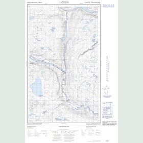 Canadian Topo Map - Map 013C13E
