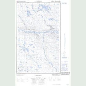Canadian Topo Map - Map 013C13W