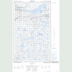 Canadian Topo Map - Map 013C14W