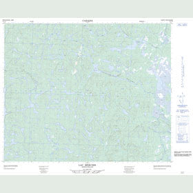 Canadian Topo Map - Lac Mercier - Map 013C15