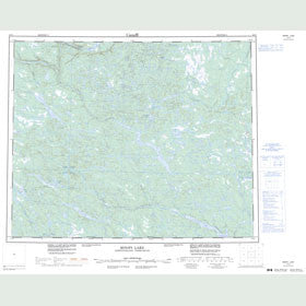 Canadian Topo Map - Minipi Lake - Map 013C
