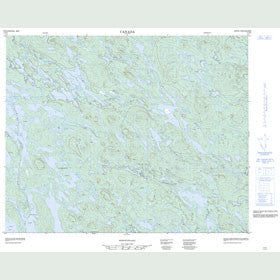 Canadian Topo Map - Plancouet Lake - Map 013D02
