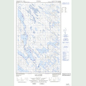 Canadian Topo Map - Lac Lavoie - Map 013D04E