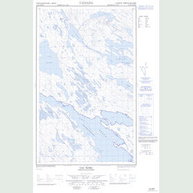 Canadian Topo Map - Lac Marc - Map 013D05W