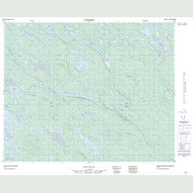 Canadian Topo Map - Map 013D07