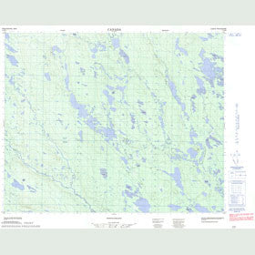 Canadian Topo Map - Map 013D08